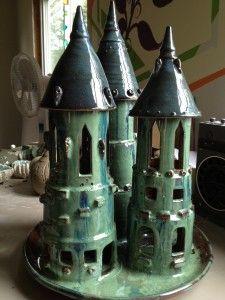 Triple turret castle.