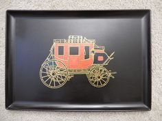 Courac Of Monteray Wells Fargo Stagecoach Serving Tray     $28.97      808