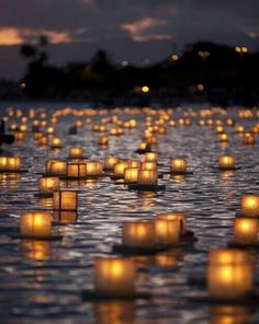 Lovely #floating #candles