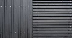 materialer Privacy Fence Designs, Main Gate Design, Wood Siding, Facade, Blinds, House Plans, Curtains, Architecture, Buildings