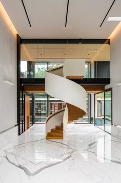 House Off Cluny by RT+Q Architects – casalibrary Arch Interior, Modern Interior, Interior And Exterior, Interior Decorating, Modern Staircase, Staircase Design, Stairs Architecture, Architecture Design, Design Plaza