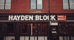 """Hayden block smoke whiskey yyc offers barbecued meats like pulled pork, brisket, pork spare ribs, chicken and more, plus sides like coleslaw, macaroni salad and smokestack corn. To wash it all down, there's a drink menu with more than 100 kinds of whiskey, as well as cocktails, beer and wine. Enjoy your meal inside or out on the back patio (known as the """"Whiskey Garden"""").  1136 Kensington Rd. N.W., 403-283-3021, haydenblockyy.com  @haydenblockyyc"""