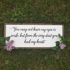 A personal favorite from my Etsy shop https://www.etsy.com/ca/listing/519772948/framed-heart-sign