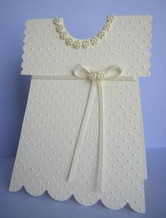 Christening Dress from Onesie pattern by nancystamps - Cards and Paper Crafts at Splitcoaststampers