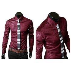 50fdbc835d4 Men s Shirts New Fashion Mens Formal Business Shirt Casual Slim Fit Long  Sleeve Dress Shirts Male Clothing Work Wear Size M-XXL