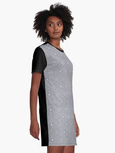 """Ultimate Gray #2"" Graphic T-Shirt Dress by Kettukas 