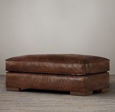 Capri Leather Ottoman. RH $737-$1436. lots of colors.