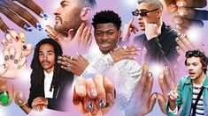 All you need to get involved in the brave new world of men's beauty is a bottle of nail polish. Men Nail Polish, Essie Polish, Androgynous Men, Balenciaga Designer, The Man Show, Simpsons Characters, Poke Tattoo, Brave New World, Diy Manicure