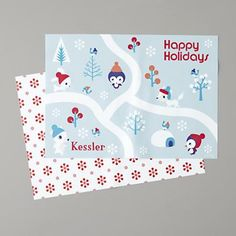 Kids Holiday: Personalized Blue Holiday Placemats in All Holiday Décor