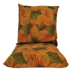 (CLICK IMAGE TWICE FOR UPDATED PRICING AND INFO) #home #cushions #homeimprovement #outdoor #patio #chair #chaircushions #replacamentcushion #patiochaircushion  see more chair cushions at http://zpatiofurniture.com/category/patio-furniture-categories/patio-chair-cushions/ -  Algoma 8020-138 Cushions for Hanging Chairs, Leaves Dark Melon Print « zPatioFurniture.com