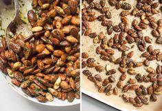pesto almonds