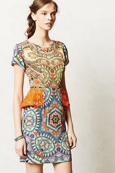 Peplum is probably a bad idea but...Sunchart Peplum Dress #anthropologie