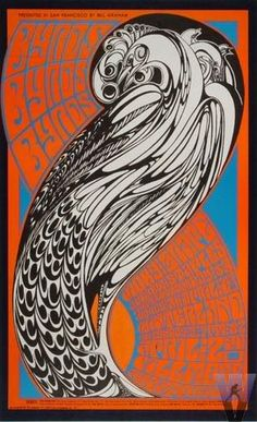 Another poster that I have, mine haven't survived as well as some I bet.  Wes Wilson's Byrds 1967 FIllmore poster  Parra original doodle