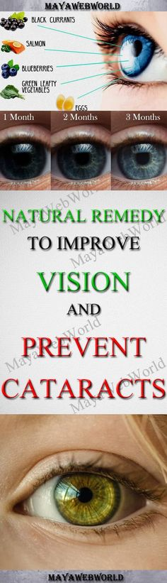 Natural Remedy to Improve Vision and Prevent Cataracts – MayaWebWorld
