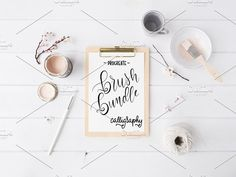 Procreate - 8 Calligraphy Brushes by Lefty Script on @creativemarket