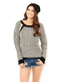West Coast Wardrobe Walk The Line Sweater In Black/White