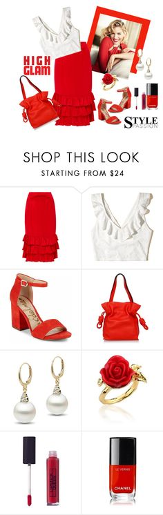 """She's got a passion for style"" by glitterlady4 ❤ liked on Polyvore featuring Maggie Marilyn, Hollister Co., Sam Edelman, Loewe, Disney Couture, Lipstick Queen and Chanel"