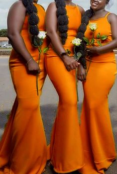 fall mermaid halter bridesmaid dresses burnt orange satin formal gown for autumn weddings Burnt Orange Bridesmaid Dresses, Cheap Bridesmaid Dresses Online, Burnt Orange Dress, Satin Bridesmaid Dresses, Maid Of Honour Dresses, Maid Of Honor, Boho Wedding, Fall Wedding, Autumn Weddings
