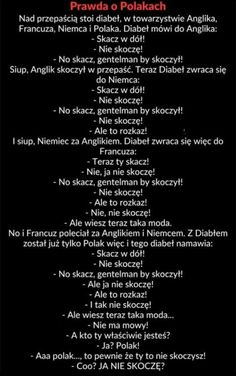 Prawda o Polakach Funny Text Memes, Funny Memes Images, Wtf Funny, Funny Cute, Funny Photos, Hilarious, Cool Photos, Weekend Humor, Funny Mems