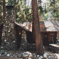 Old cabin. Forest Falls, CA