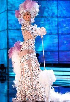 Traje Dama Antañona - Creado para Stefanía Fernández en Miss Universe...