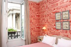 The columns of the Panthéon from your room at Du Pantheon Hotel in Paris