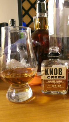 Knob Creek Smoked Maple Kentucky Straight Bourbon Whiskey with natural flavors #bourbon #whiskey #whisky #scotch #Kentucky #JimBeam #malt #pappy