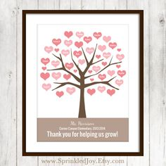 Teacher Gift Tree Personalized with Classmates by SprinkledJoy