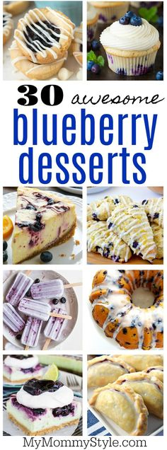 30 awesome blueberry desserts