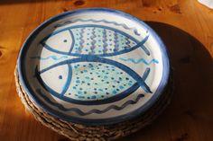Fish Platter, Ceramic Fish, Fish Design, Handmade Ceramic, Ocean Beach, Seafood, Coastal, Pottery, Ceramics
