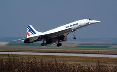 Air France Concorde 213, F-BTSD. This picture displays a slightly older Air France livery. The livery does not have the 12 European stars at the top of the tail but the aircraft