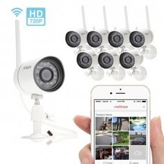 Funlux Smart Security Camera System with 8 HD Wireless Cameras with Night Vision