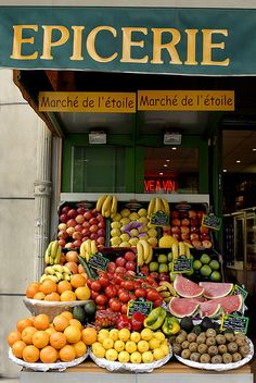 Fruit Market, Paris, France - this is exactly how they are all along the streets…