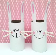 Precious Paper Roll Bunnies are easy Easter crafts for kids to make- love these!