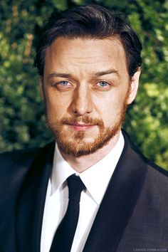 James McAvoy, I do love those eyes...and eyebrows-expressive, and beard, and...