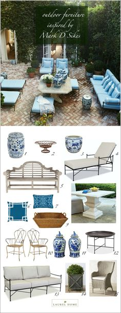 outdoor furniture inspired by Mark D Sikes