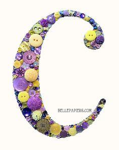8x10 Buttons Button Art Button Monogram Button & by BellePapiers
