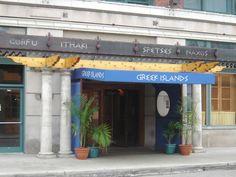 Greek Islands Restaurant in Chicago.  Saganaki!