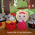 Три медведя- пальчиковые куклы. The three bears. Boucle d'or et les trois ours... - des p'tits riens