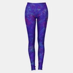 Painted Geometry 1 Leggings by Fimbis  _________________________________ purple, violet, ultra violet, stripes, cyan, fluid art, fluid painting, apparel, mens wear, women wear, kids wear, fashionista, fashion, style, colour of the year, color of the year, leggings, yoga, yoga pants,