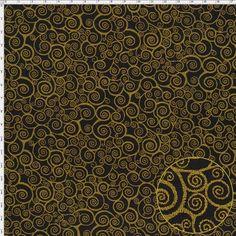 Tecido Estampado para Patchwork - 16350/04 Natal Arabesco Festa Preto (0,50x1,40)