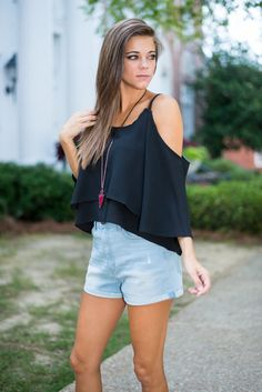Touch Of Sun Crop Top, Black