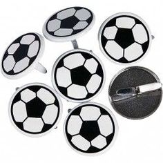 Brads, d: 20 mm, Voetbal, Football Design, D 20, Soccer Ball, Embellishments, 30th, Card Making, Scrapbook, Cards, Awesome Stuff