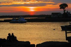A View of the Sunset from Lovers Point, Money Island, The Thimble Islands, Stony Creek, Connecticut.  Photography © Jeffrey J. Francois