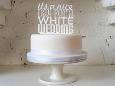 Statement toppers -- something different for your wedding cake