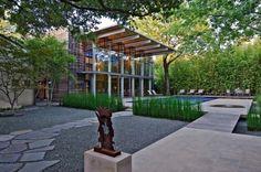 Modern Garden House Design Idea Dallas, Texas