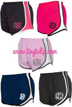 Monogrammed Running Athletic Shorts