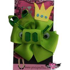 Angry Birds King Pig Ribbon Hair Bow