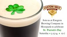 http://www.custommelt.com/st-patricks-day-enegren-brewing/ Join us Saturday, March 15th as we celebrate St Patrick's Day with Enegren Brewing Company in Moorpark. Delicious sandwiches and beer from 12-7. Stop by anytime!