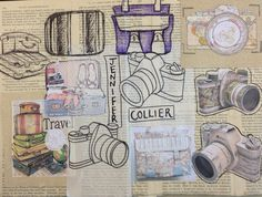 Sketchbook development / Artist Research - Jennifer Collier Lisa Milroy, Artist Research Page, Jennifer Collier, Gcse Art Sketchbook, Jenifer, Art Diary, 2017 Ideas, Arts Ed, Telling Stories